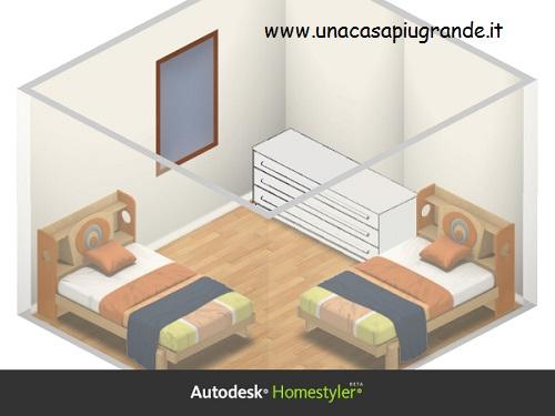 cameretta con autodesk Homestyler