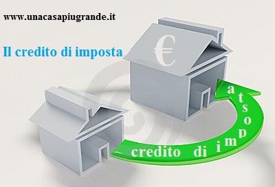 credito di imposta prima casa