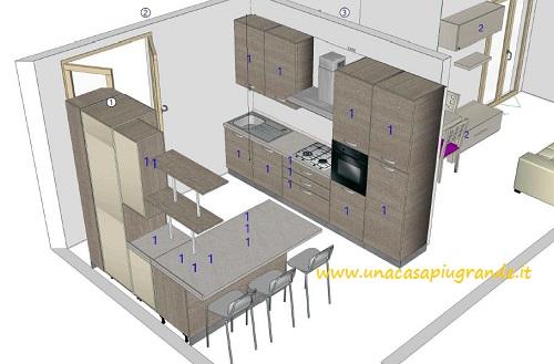 Progetto open space cucina angolare 8878 idee per il design della casa - Cucina angolare piccola mondo convenienza ...