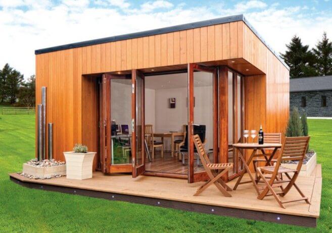 una vera casa in legno