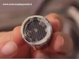 calcare su filtro rubinetto