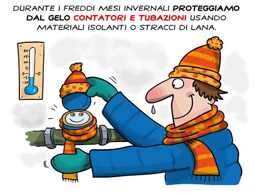 proteggi il contatore dell'acqua dal freddo