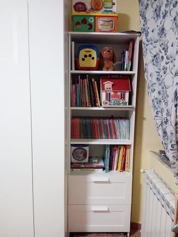cameretta libreria ikea