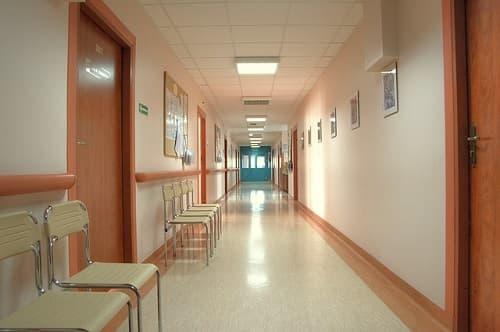 il reparto di un ospedale