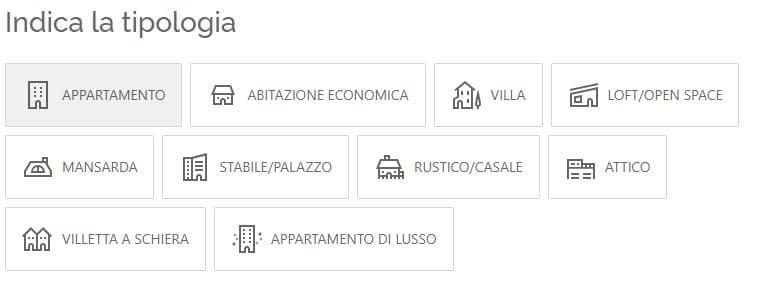 tipologia immobiliare
