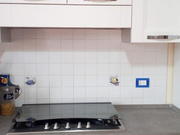 parete cucina in mattonelle